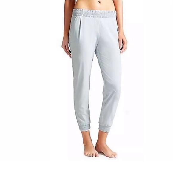 Athleta Aliso Lightweight Grey joggers Pants 4